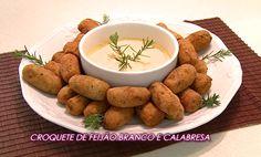 Blog Claudia Tenório: Receita do Croquete de feijão branco e calabresa