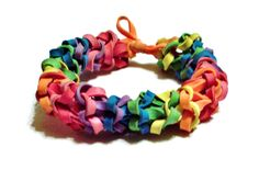 Rainbow Rubber Band Bracelet