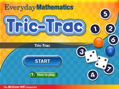 Everyday Math game: Tric-Trac