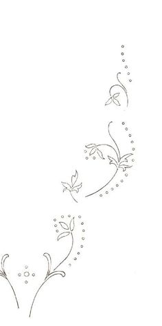 . Floral Embroidery Patterns, Hand Embroidery Flowers, Simple Embroidery, Embroidery Monogram, Hand Embroidery Designs, Embroidery Applique, Embroidery Stitches, Card Patterns, Vintage Patterns
