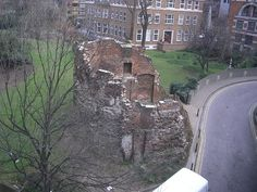 Scattered throughout London are ancient Roman remnants of the city's former bounding wall