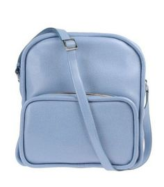 Blue leather #backpack