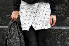 Pic du soir // Jolies bobines - Nascha Mini Skirt Named Clothing, Casual, Mini Skirts, Feminine, Couture, Sweatshirts, Lace, Wicked, Pattern