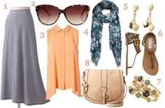 what to wear: casual mixed prints #fashion