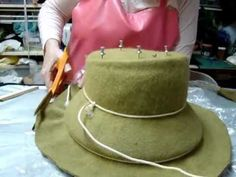How to block a wool felt hat.