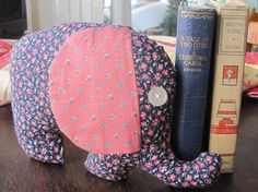 Elephant Softie Soft Toy made with vintage by BudgiefluffSews, $12.50