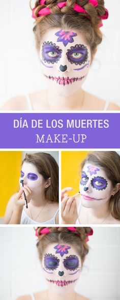 DIY-Anleitung: Faschings-Make-up im Stil des Día de los Muertes / carneval make up skull via DaWanda.com