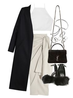 """Untitled #20543"" by florencia95 ❤ liked on Polyvore featuring Joseph, Yves Saint Laurent, rag & bone, Alexander Wang, Non, MANGO and Monica Vinader"