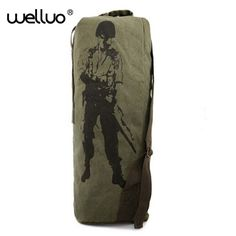 e462e230502 Length Military Backpack Large Capacity Travel Bag Mountaineering Canvas  Pack Bicycle Rucksack Canvas Bag Bolsas Mochila