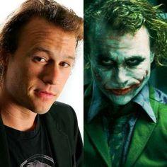 Heath Ledger tinha um rosto angelical, mas que mudou completamente ao interpretar Coringa no longa B... - Montagem-Getty Images-Divulgação