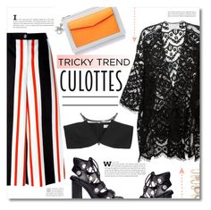 """""""Tricky Trend: Culottes"""" by chocolate-addicted-angel ❤ liked on Polyvore featuring Alexander Wang, Dolce&Gabbana, Chloé, Christian Dior, Accessorize and Thierry Mugler"""