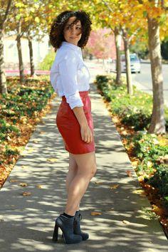 Leather Skirt, Alexander Wang boots