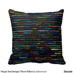 Vergas Text Design I Throw Pillow