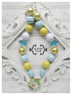 Spongebob Chunky Bead Necklace Acrylic Bead by SugarCBoutique, $14.50