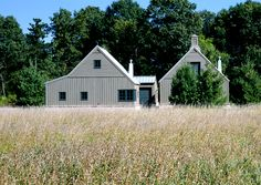 Minneapolis-based Albertsson-Hansen Architecture condensed a compound of old storage barns located on 250 acres in rural Minnesota