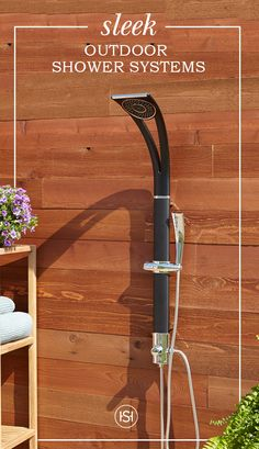 Bring luxury to your poolside or garden area with a stylish outdoor shower designed to hold up to the elements.