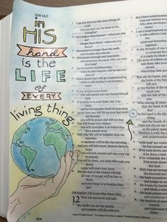 Ϯ ❤ Ϯ Spiritual Thought ♥Bible art journaling Job Job Bible, Bible Art, Scripture Art, Word Of Grace, Bibel Journal, Book Of Job, Bible Illustrations, Illustrated Faith, Prayer Book