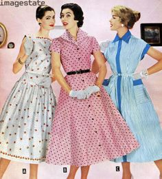 (dress on right) dress inspiration for Gladys apron