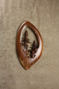 Tree Wood Carving Anniversary Gift by TreeWizWoodCarvings on Etsy, $145.00