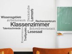 Wandtattoo Klassenzimmer Wortwolke