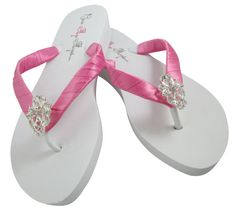 0583a368a5544 Wedding Flip Flops for the Bride