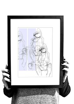 by Bogdanowicz on Etsy, A4, Glasses, Unique Jewelry, Frame, Handmade Gifts, Illustration, Etsy, Vintage, Decor