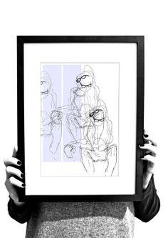 GLASSES. A4 illustration print. by Bogdanowicz on Etsy, zł100.00