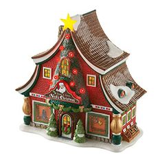 """Department 56: Products - """"North Pole, The Sounds Of Christmas"""" - View Lighted Buildings"""