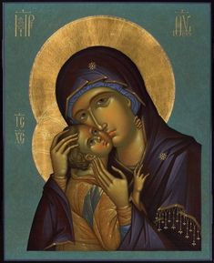 Religious Images, Religious Icons, Religious Art, Blessed Mother Mary, Blessed Virgin Mary, Hobby Lobby Letters, Christian Artwork, Byzantine Icons, Madonna And Child