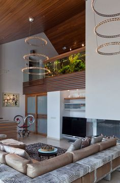 Living Room interior design  decor / Penthouse Style via Lexie Amarandos