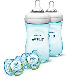#Philips #Avent SCD693/24 Natural 9 Ounce Bottle is the most natural way to bottle feed. The wide, breast-shaped nipple on the Natural bottle promotes natural lat...