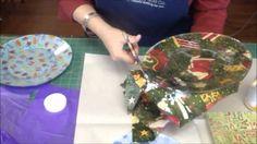 Make Cute Holiday Fabric Plates Using Mod Podge!, via YouTube.
