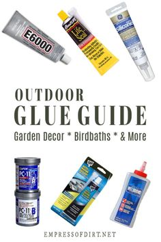 Make your garden projects last with an adhesive that works in all seasons. This glue guide rates products for different applications. diy garden art Glue Resource Guide for Garden Art Projects Diy Garden Projects, Garden Crafts, Art Projects, Garden Ideas, Garden Inspiration, Yard Art Crafts, Glue Crafts, Diy Crafts, Preschool Crafts