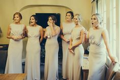 2118c8e3afeb Amazing bridesmaids can't hide their shock when seeing @abbiejt for the  first time