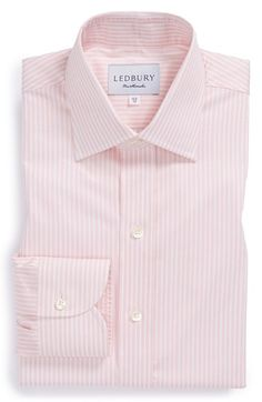 Men's Ledbury 'Ruble' Slim Fit Stripe Dress Shirt