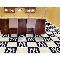 mlb new york yankees square 30 carpet tiles mat