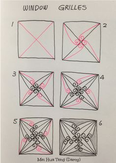 How to draw WINDOW GRILLES 1 « TanglePatterns.com
