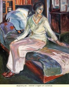 Edvard Munch. Model on the Couch. Olga's Gallery.