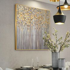 Gold art tree painting abstract flower Modern art painting on canvas original art framed painting Wall Picture home decor cuadros abstractos Abstract Tree Painting, Abstract Painting Techniques, Abstract Flowers, Acrylic Painting Canvas, Painting Frames, Cow Paintings On Canvas, Art Deco Paintings, Acrilic Paintings, Modern Art Paintings