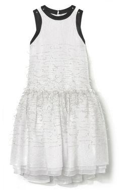 Embroidered Drop Waist Tinsel Dress by Prabal Gurung for Preorder on Moda Operandi
