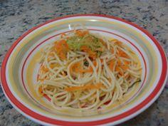 GRUPO-MOITA: Espaguete com cenoura e abobrinhas