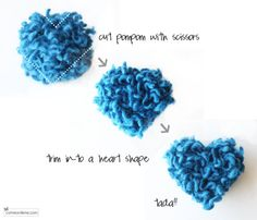 Heart shaped pom pom