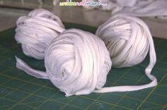 creare fettuccia di cotone da vecchie magliette