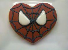 Cody's Spiderman Valentine Cookies | Flickr - Photo Sharing!