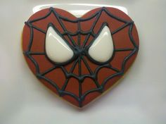 Cody's Spiderman Valentine Cookies | Flickr - Photo Sharing!