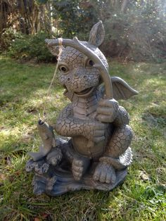 Drache Drachenfigur Gartendrache Gargoyle Drachen Garten Figur Deko Sonny