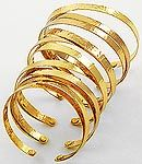 Gold Over Sized Cuff Bracelet