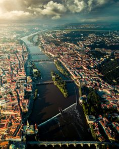 A rare view of Prague's Old Town and Mala Strana from a bird's eye view! Ph: Henry Do Photography Prague Old Town, Prague City, Great Shots, Aerial Photography, Stunning View, Travel Photographer, Aerial View, Travel Photos, Airplane View