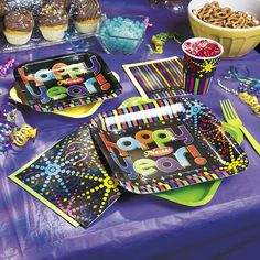 Make your New Year's Eve sweet with these brightly-colored New Year's Party! These party supplies will spread the festive cheer to all your guests.