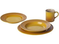 Dijon 4-pc. Stoneware Place Setting by Le Creuset at Cooking.com  #holidaycooking